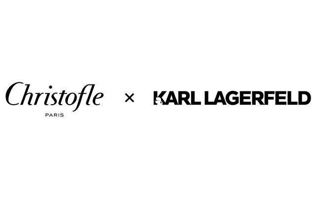 The logo of the Christofle x Karl Lagerfeld collaboration.