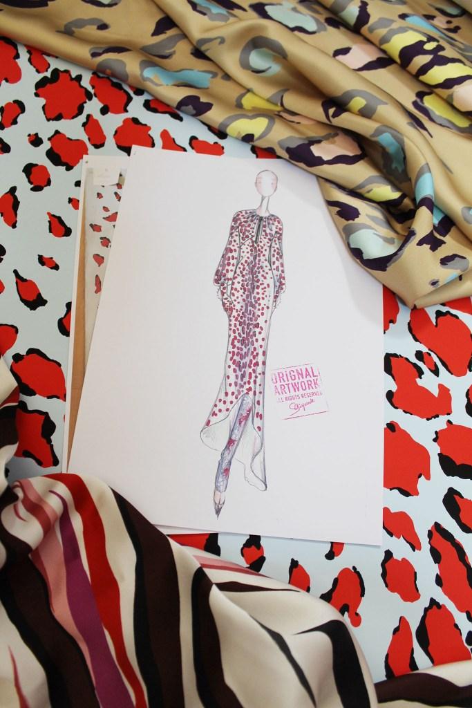 A couture sketch from Schiaparelli.