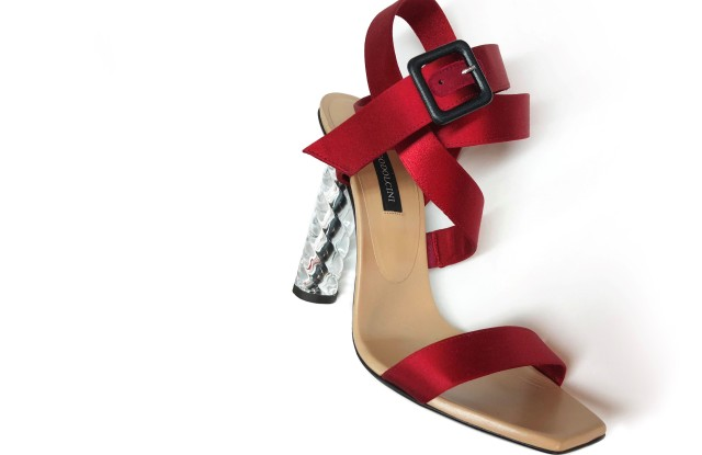 The Lou heels from Diego Dolcini's Cristal Couture capsule for Baccarat.