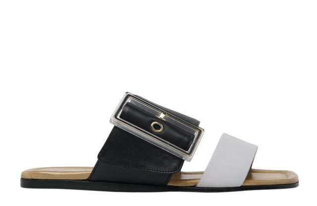 A pair of flat sandals by AGL.