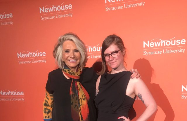 Sheila Nevins  and Erin Lee Carr at The Mirror Awards.