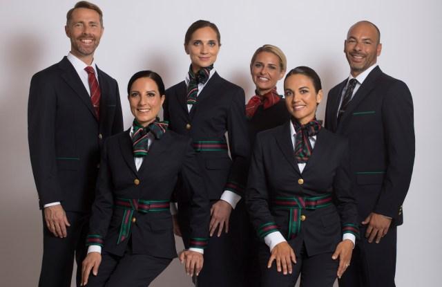 Alitalia uniforms by Alberta Ferretti
