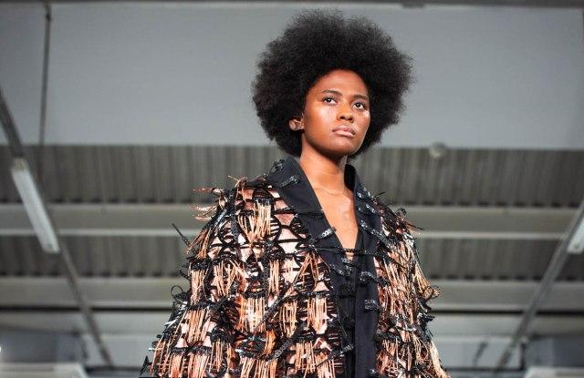 A look from Aurélie Fontan at London's Graduate Fashion Week