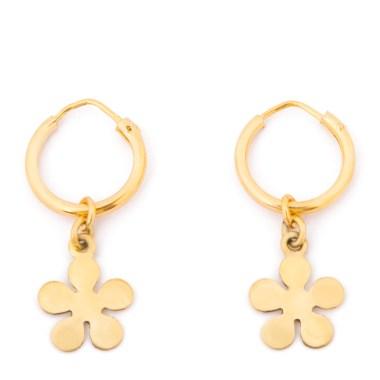 Hoop earrings by Emily Levine.