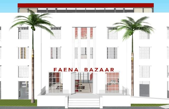 A rendering of Faena Bazaar.