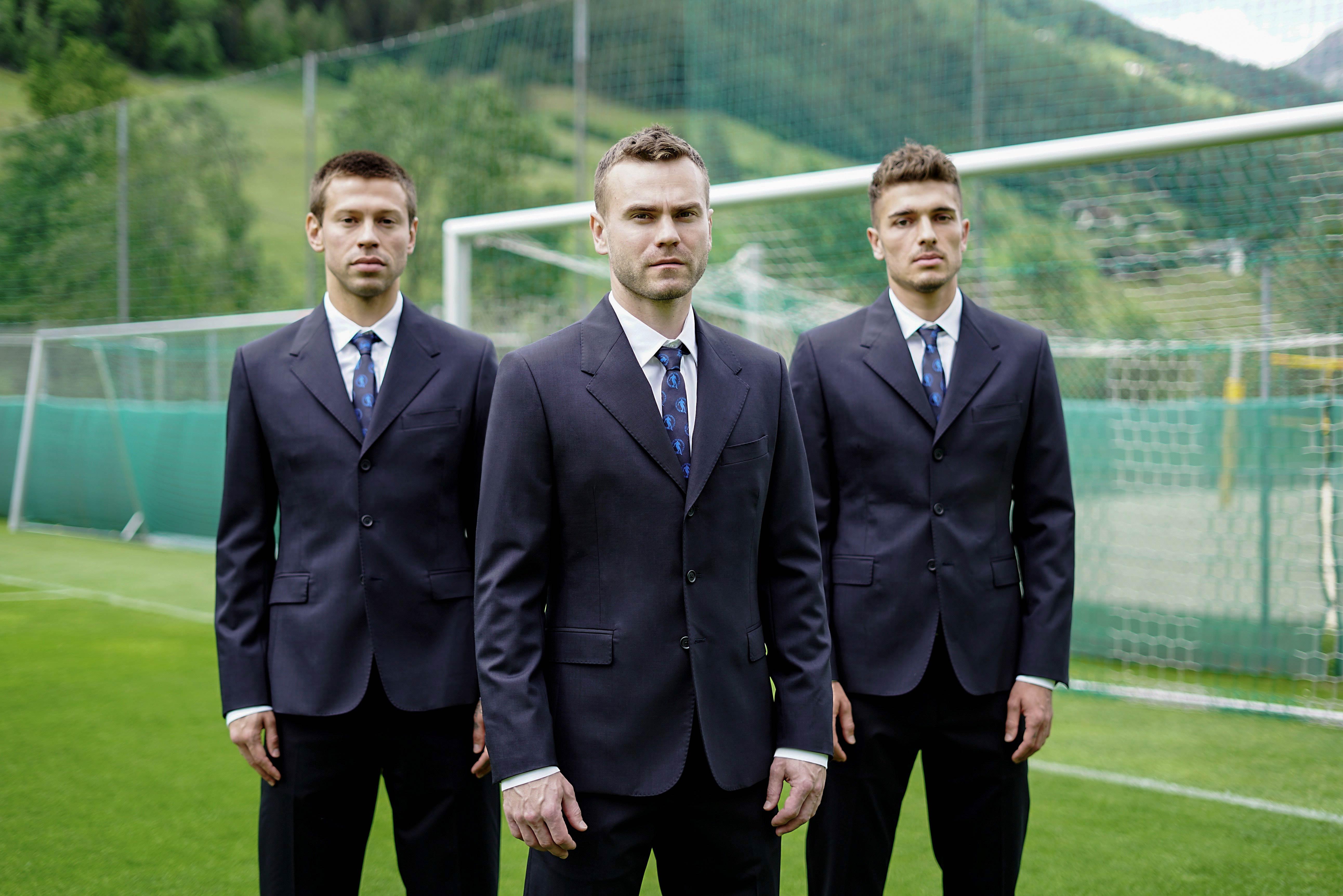 Fedor Smolov, Igor Akinfeev and Roman Neustadter