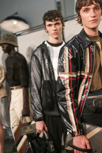 Backstage at Fendi Men's Spring 2019