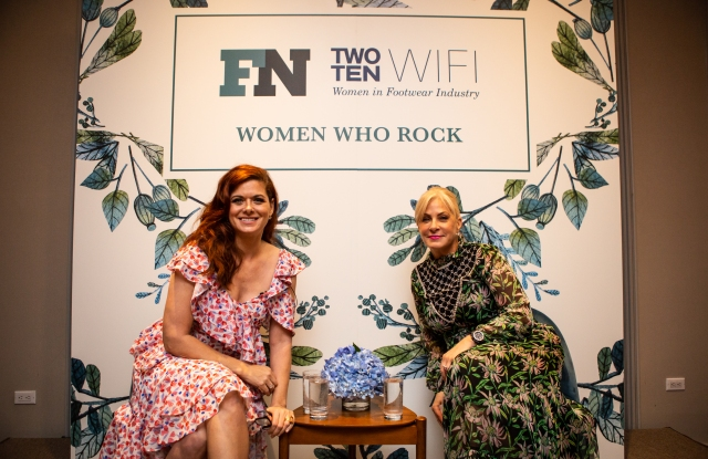 Debra Messing and Faryl Robin Morse