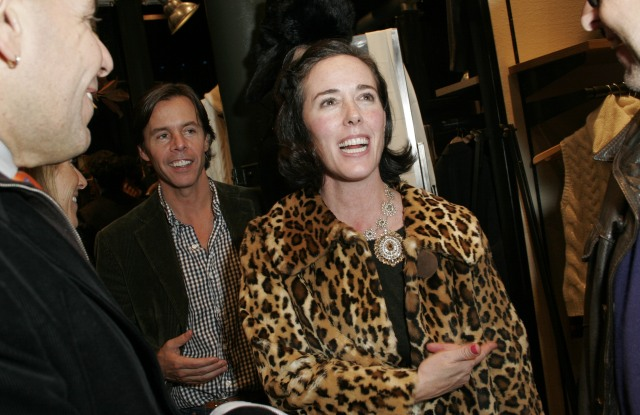 "Kate Spade attends Steven Sebring's ""Bygone Days"" book signing at Ralph Lauren SoHo."