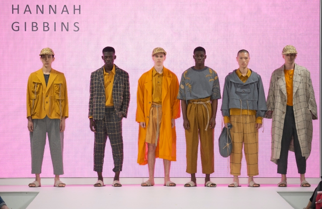 Hannah Gibbins collection at London's Graduate Fashion Week