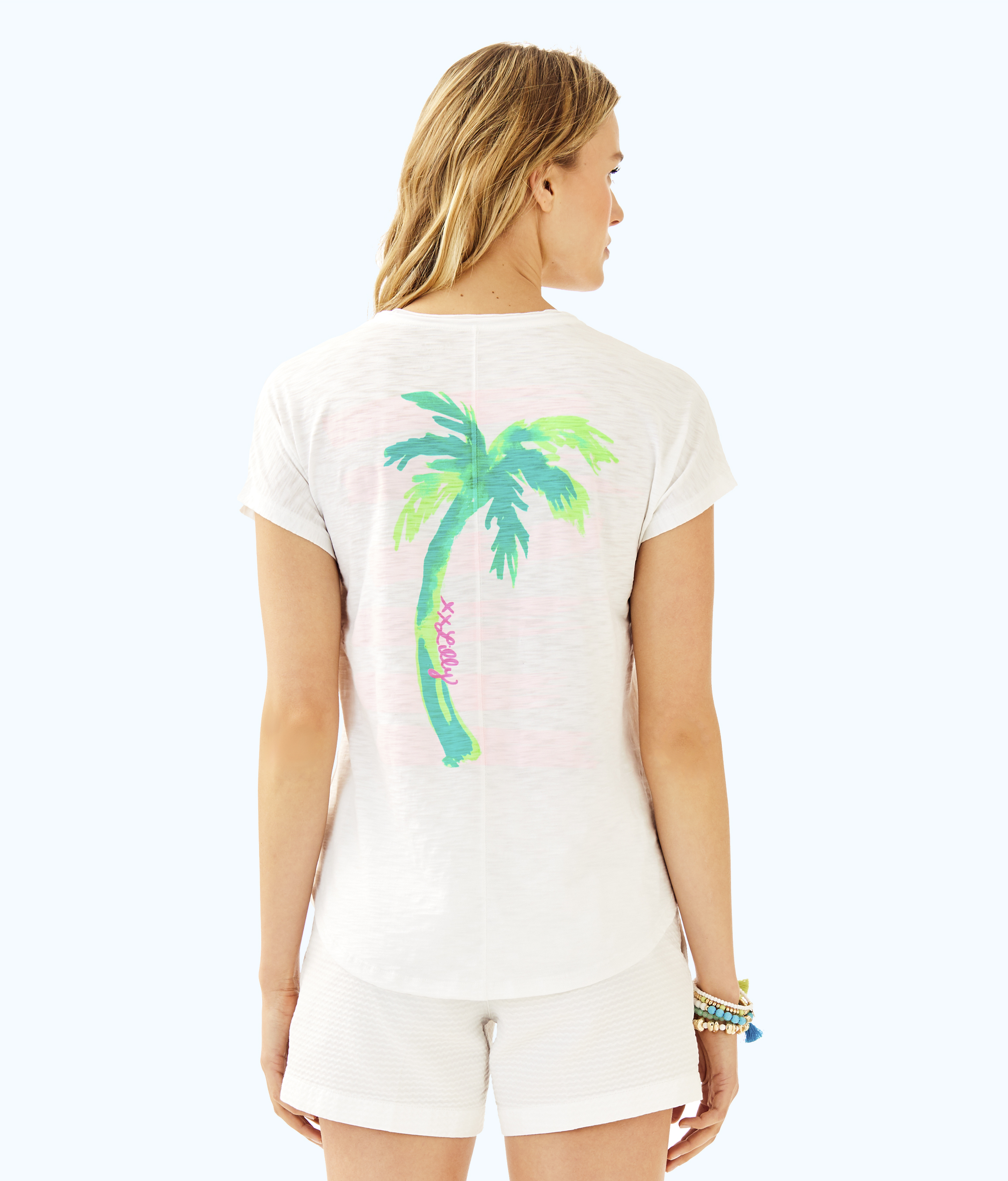 """Lilly Pulitzer's """"Happiness Never Goes Out of Style"""" T-shirt."""
