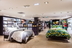 H&M Home displays in a Paris store