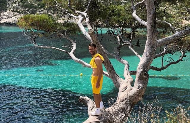 Simon Porte Jacquemus checks out the location for his first men's show.