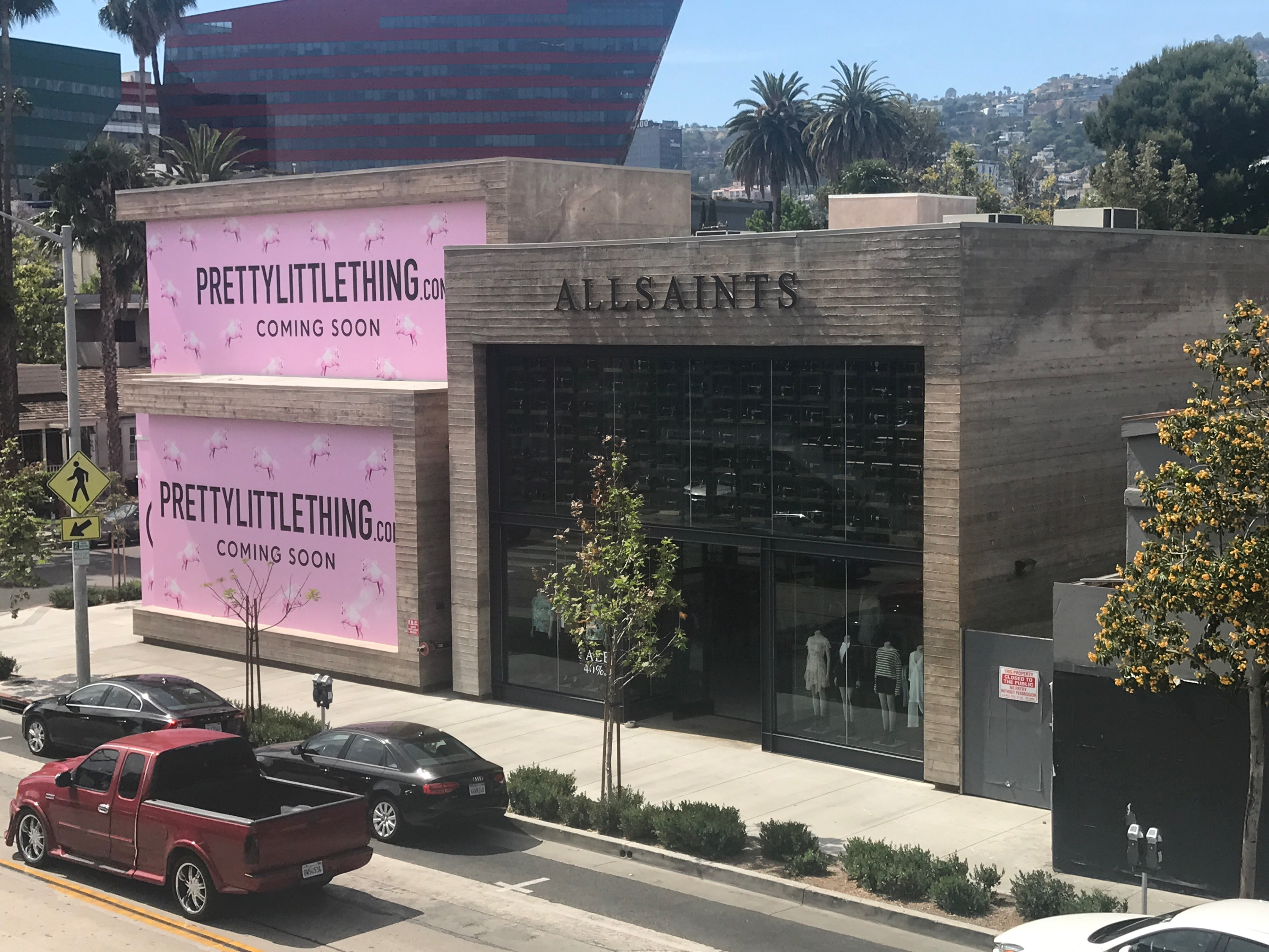 Pretty Little Thing and All Saints Melrose Avenue
