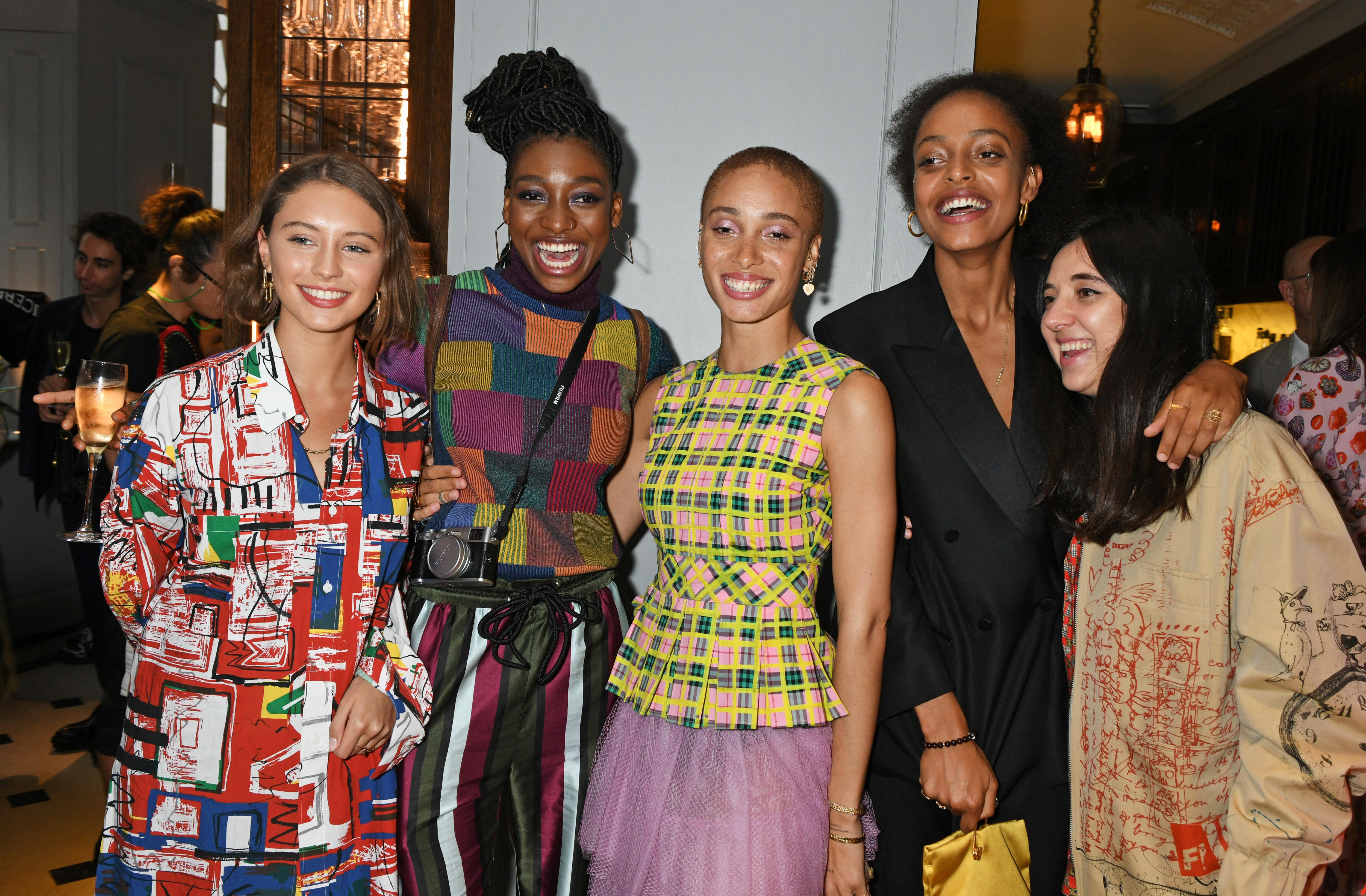 Iris Law, Lil Simz, Adwoa Aboah, Kesewa Aboah and Chloe Caillet