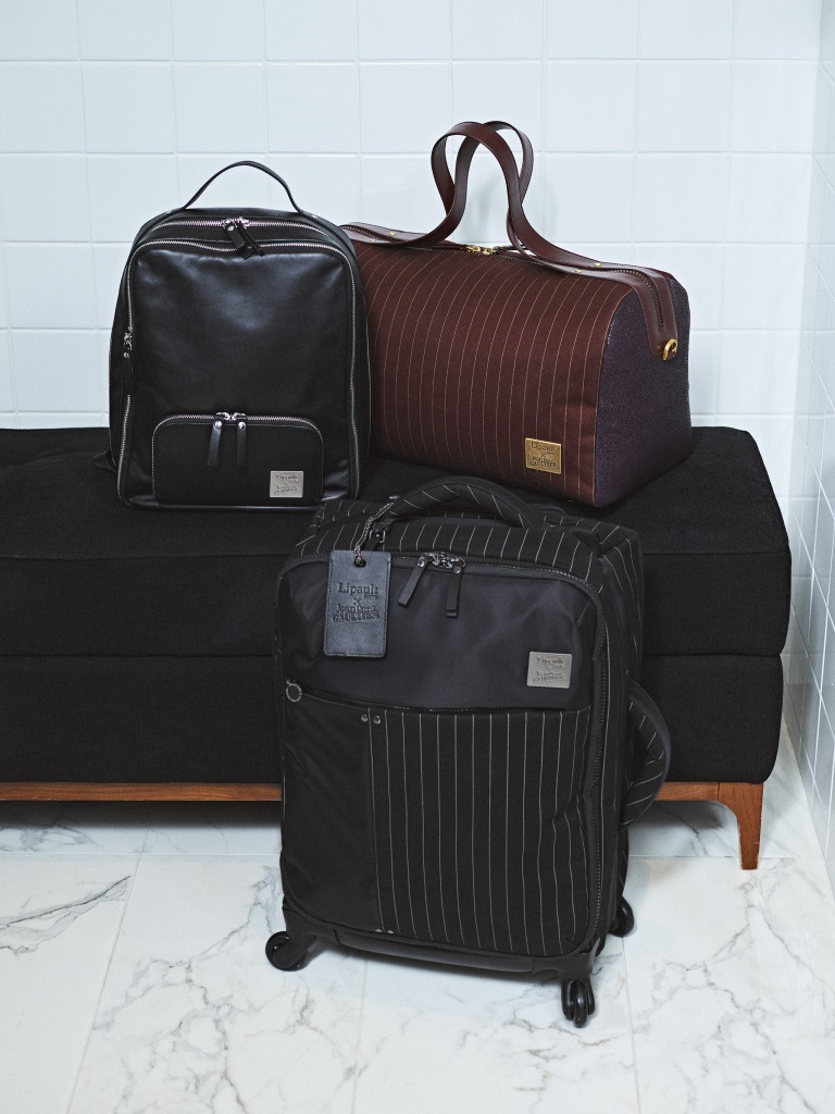 Luggage from the Jean Paul Gaultier capsule for Lipault.