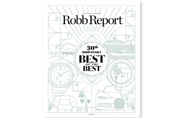 The June cover of Robb Report.