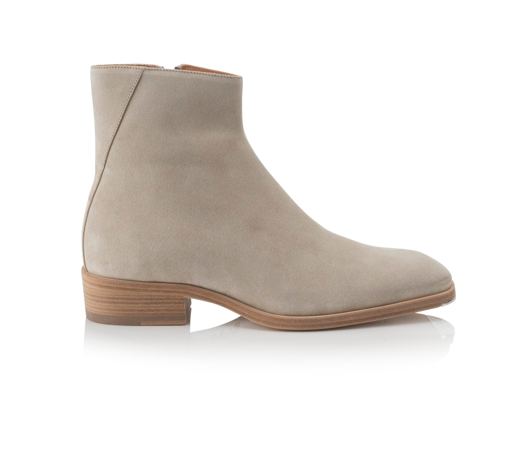 A desert suede boot from the Jimmy Choo men's spring 2019 collection.