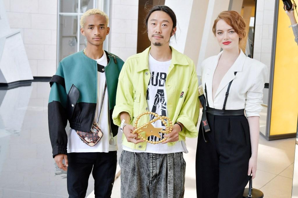 Jaden Smith, Masayuki Ino, and Emma Stone