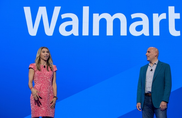 Code Eight ceo Jenny Fleiss with Marc Lore, president and ceo of Walmart U.S. e-commerce at the retail giant's event on Friday.