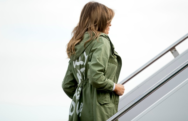First lady Melania Trump boards a plane at Andrews Air Force Base, Md., to travel to TexasMelania Trump, Andrews Air Force Base, USA - 21 Jun 2018