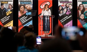 First lady Melania Trump speaks at the annual conference of SADD: Students Against Destructive Decisions in Tysons, VaMelania Trump, Tysons, USA - 24 Jun 2018