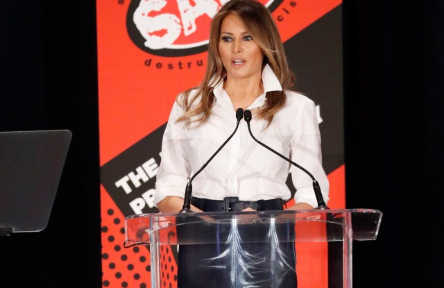Donald Trump, Kirstjen Nielsen, Mike Pence. First lady Melania Trump speaks at the annual conference of SADD: Students Against Destructive Decisions, in Tysons, VaMelania Trump, Tysons, USA - 24 Jun 2018