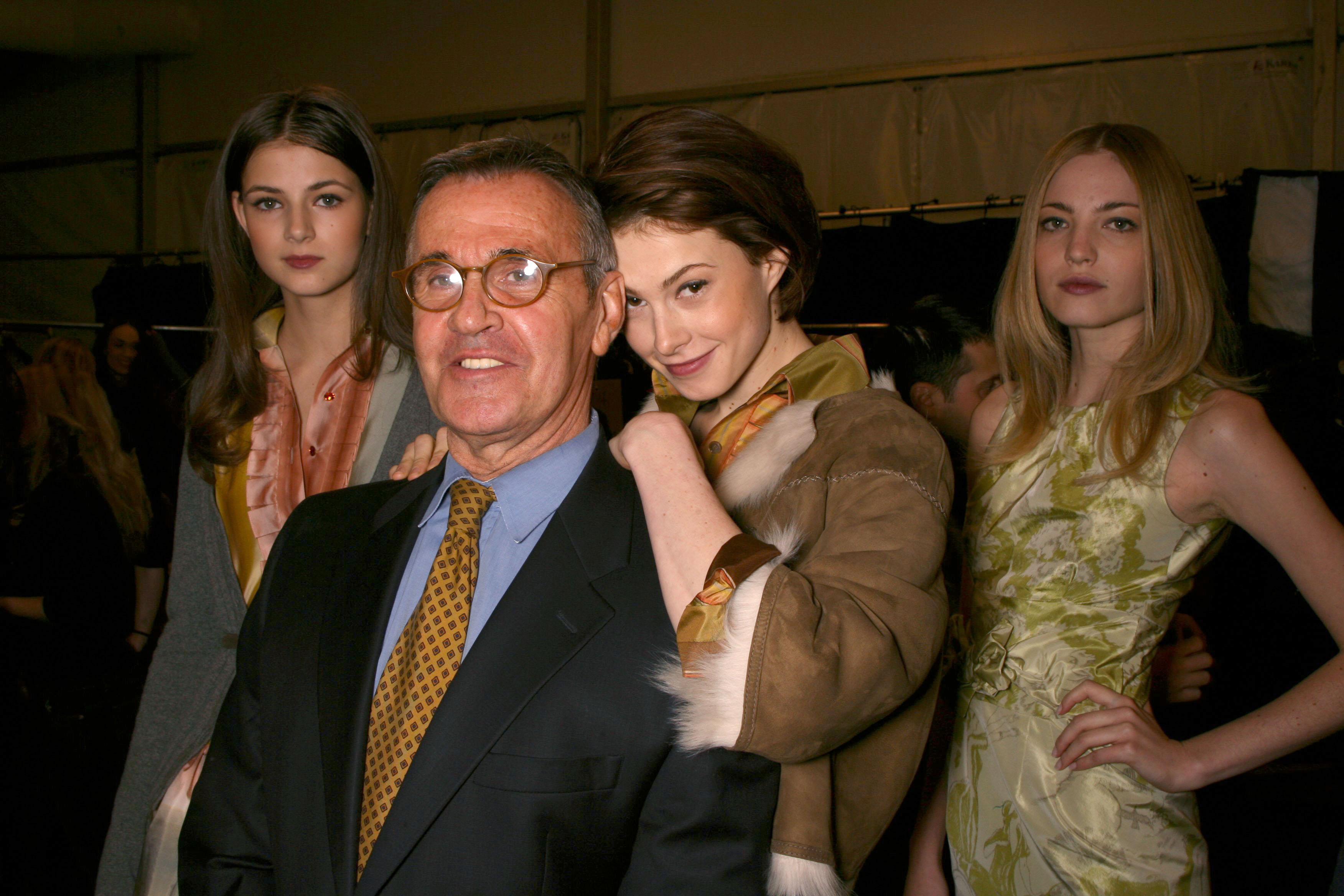 Michael VollbrachB, Elettra Ingrid, and Wiedemann Rossellini at Bill Class' Fall 2006 fashion week show.