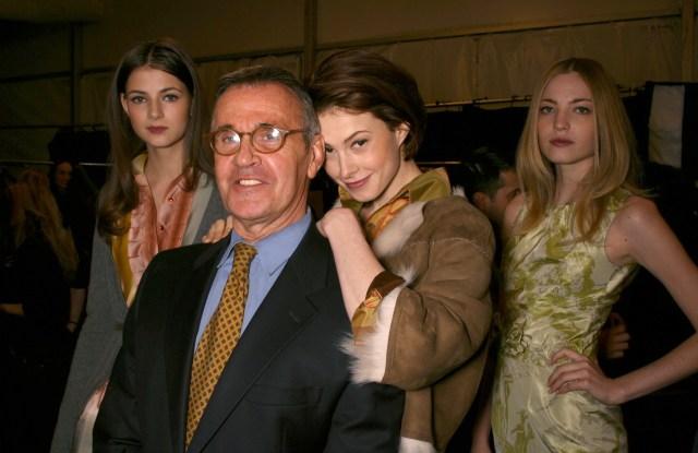 Michael VollbrachB, Elettra Ingrid, and Wiedemann Rossellini at Bill Class' Fall 2006 fashion week show.