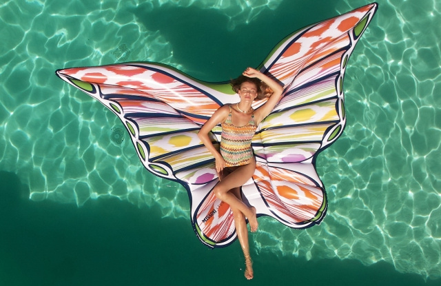 Missoni's pool float done in collaboration with Funboy.