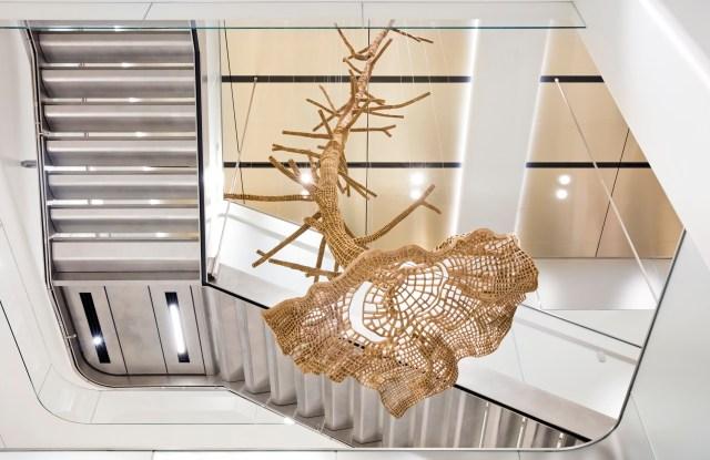 """Artic Tree,"" a John Grade sculpture  in the Men's store in New York."