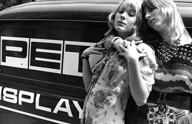 Pamela Des Barres (left) in the Sixties.