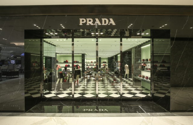 A Prada store.
