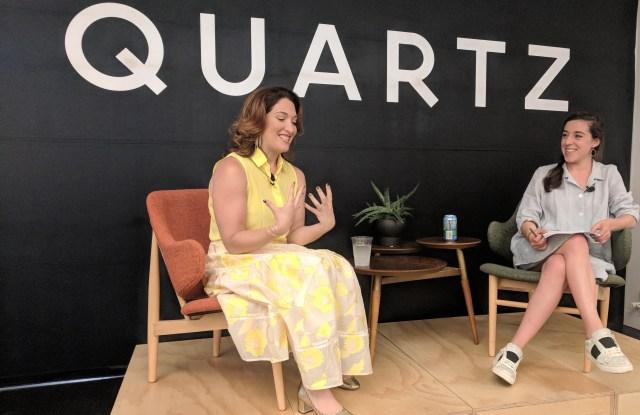 Randi Zuckerberg with Leah Fessler of Quartz.