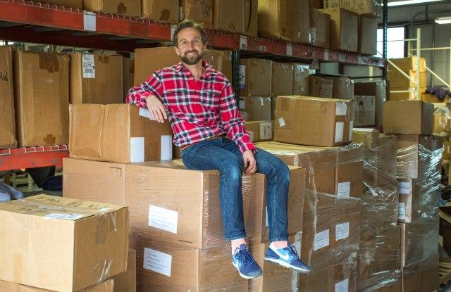Jeffy Denby at The Renewal WorkshopÕs warehouse.