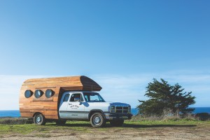 Patagonia's Worn Wear vehicle travels to different locations to offer repairs on-the-spot.
