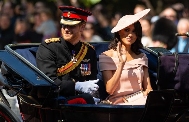 Prince Harry and Meghan Duchess of Sussex at the Trooping the Color Ceremony