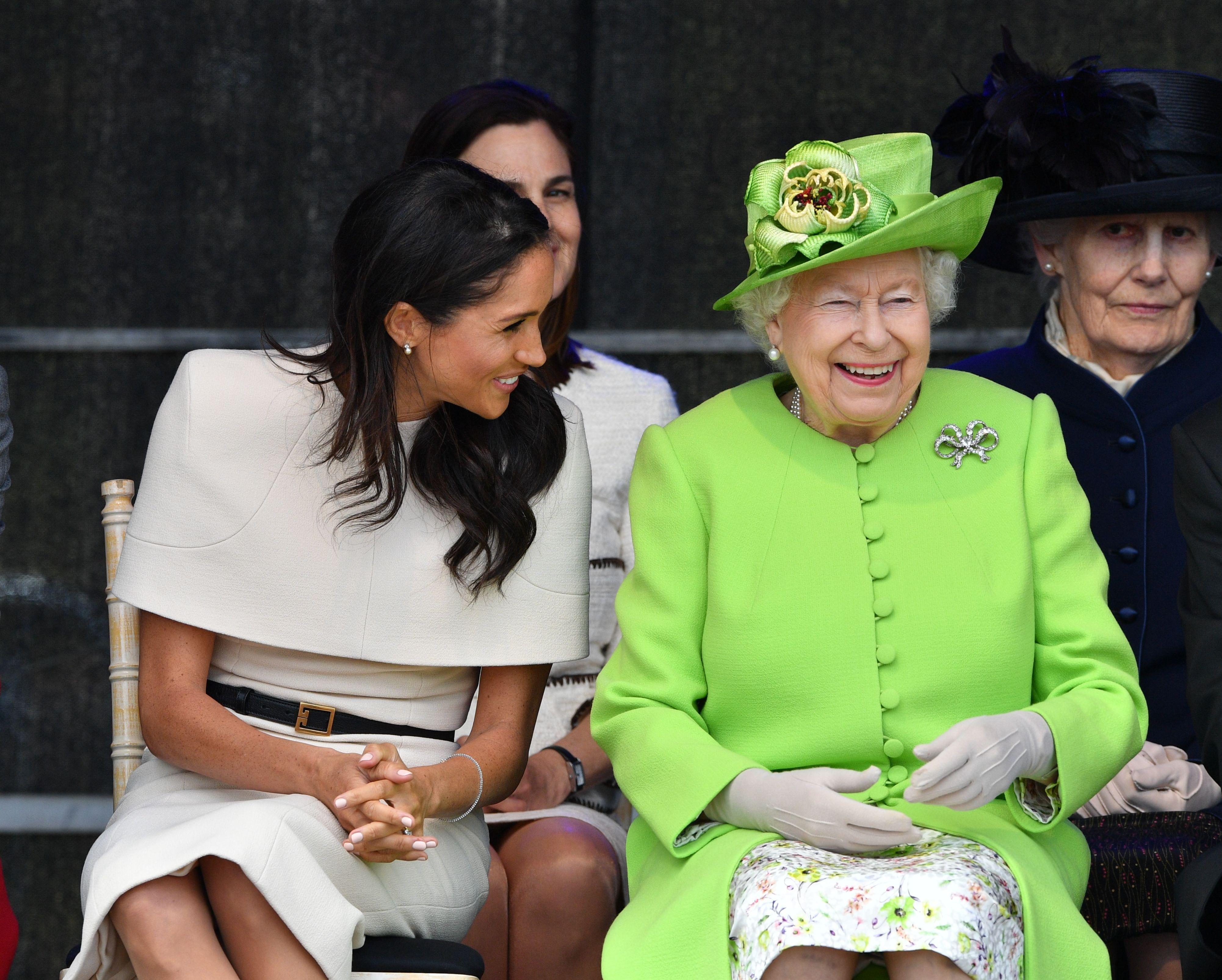 Queen Elizabeth II, Meghan Duchess of Sussex open the new Mersey Gateway Bridge