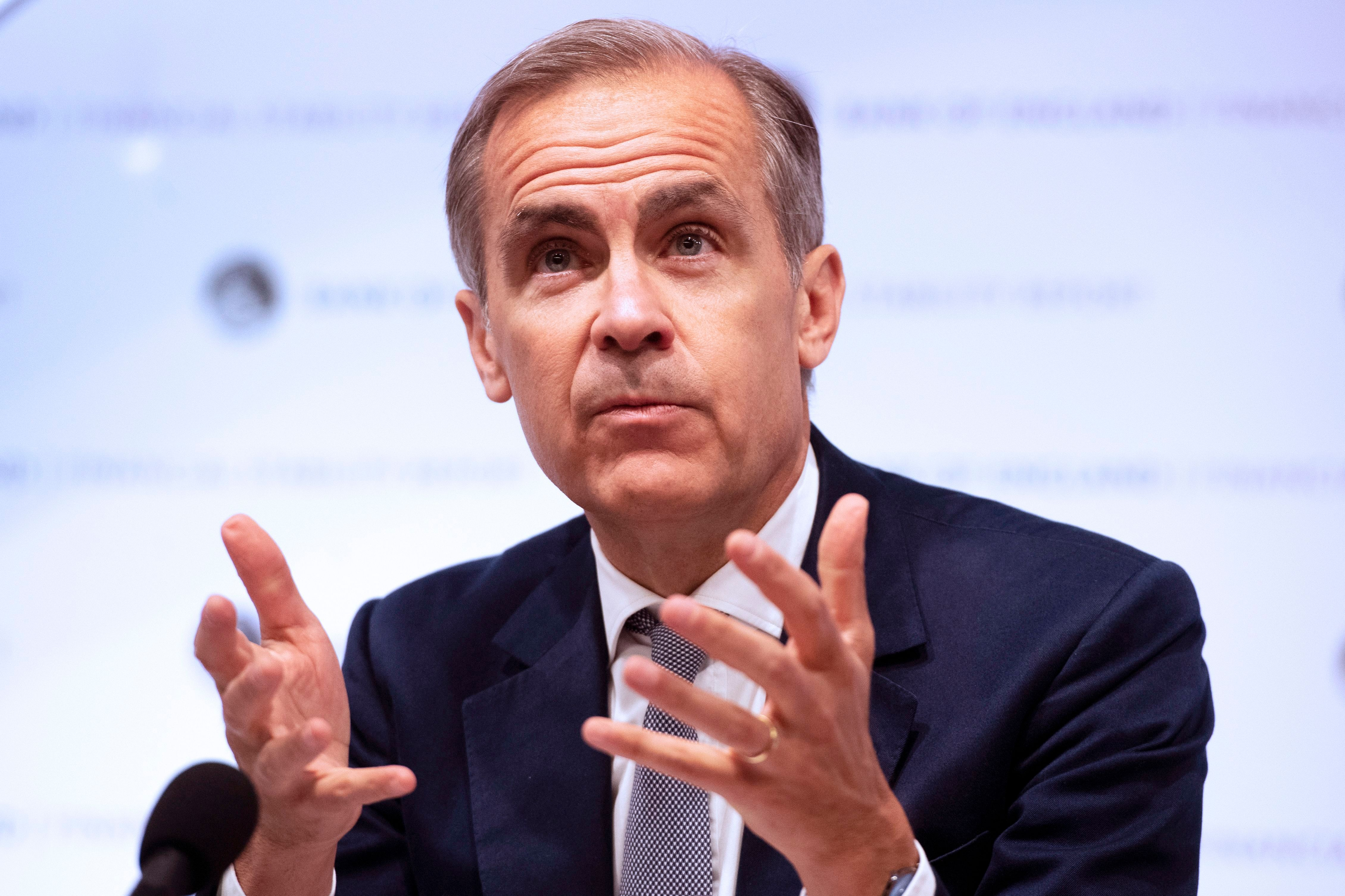Mark CarneyBank of England release Financial Stability Report, London, United Kingdom - 27 Jun 2018 Bank of England Governor Mark Carney delivers the banks financial stability report at the Bank of England in London, Britain, 27 June 2018. According to the Bank of England in its financial stability report by the Financial Policy Committee, the (FPC) continues to judge that, apart from those related to Brexit, domestic risks remain standard overall. In recent months there has been some reduction in domestic risk appetite, although it remains strong.