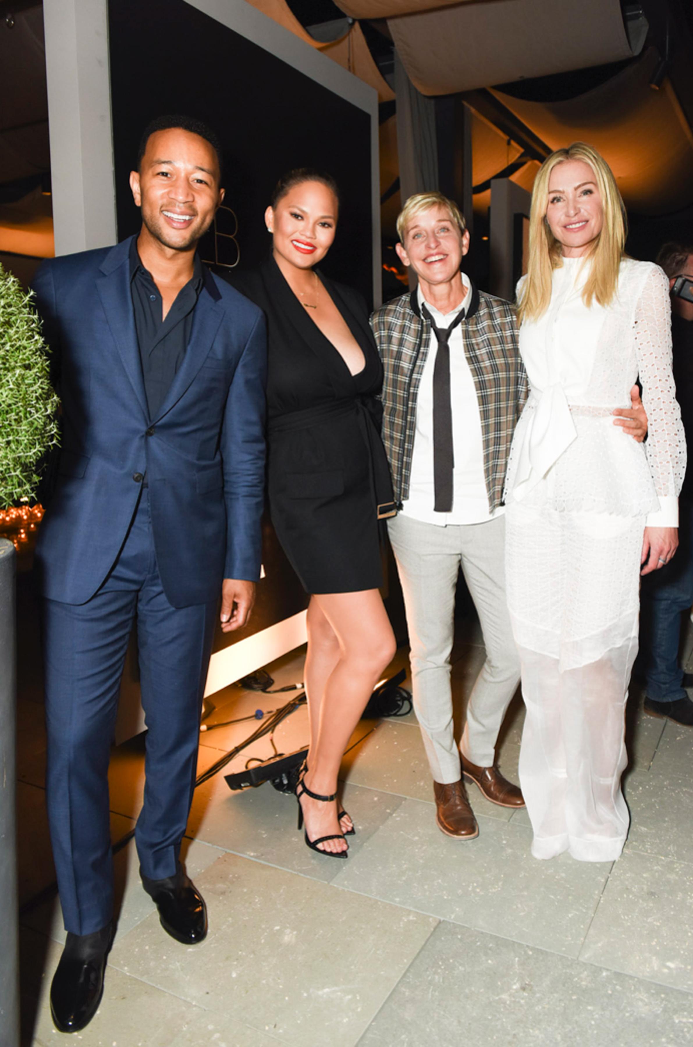John Legend, Chrissy Teigen, Ellen DeGeneres, Portia de RossiGeneral Public x RH celebration, California, USA - 27 Jun 2018