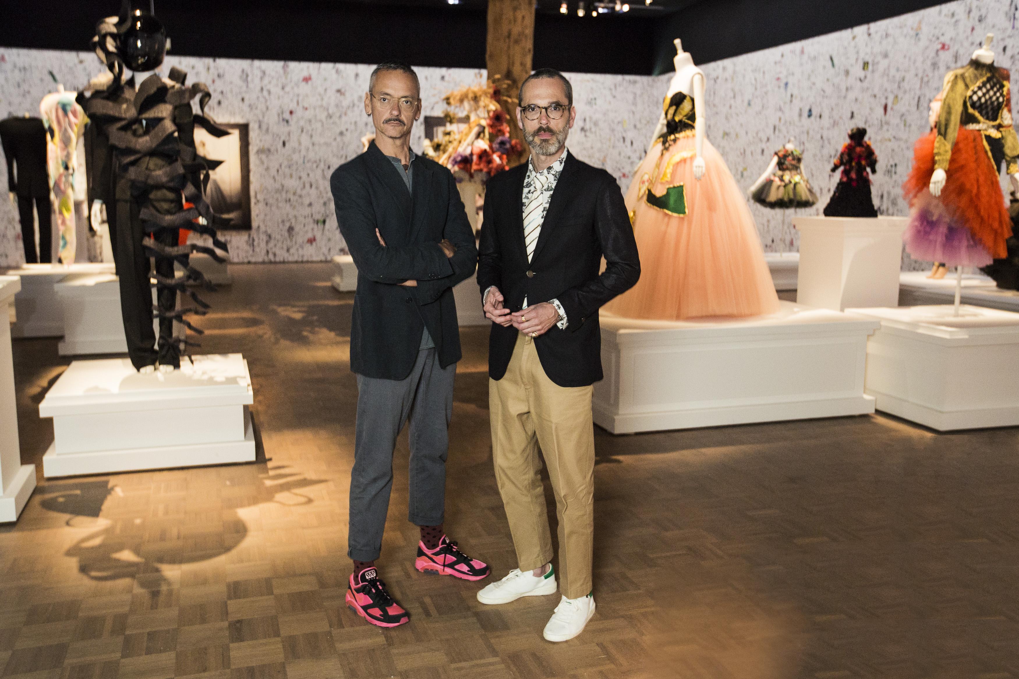 Rolf Snoeren and Viktor Horsting at their 25th anniversary retrospective at Rotterdram's Kunsthal.