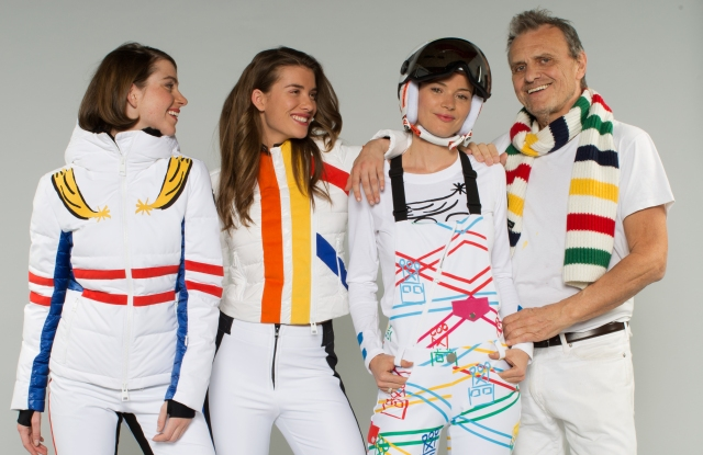 Jean-Charles de Castelbajac with some of his recent Rossignol designs.