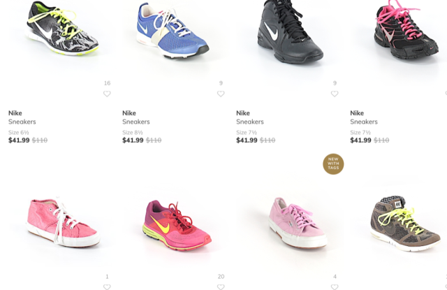 ThredUp sells a wide range of sneakers.