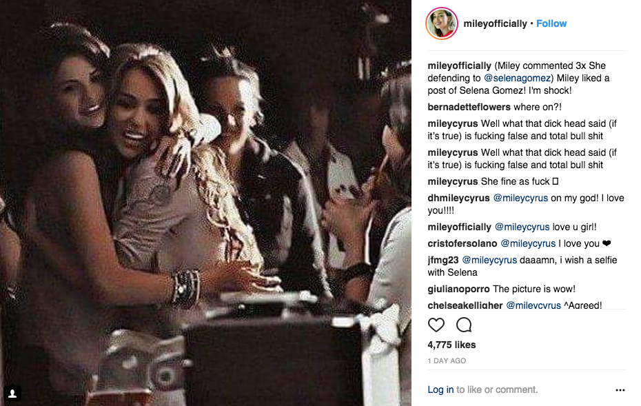 @mileyofficially's post.