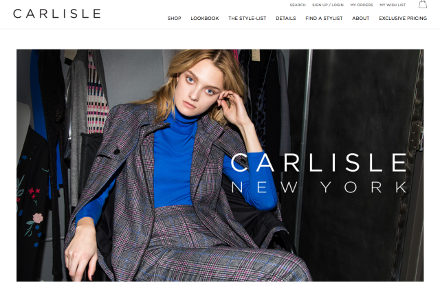 A look from the Carlisle website's home page.