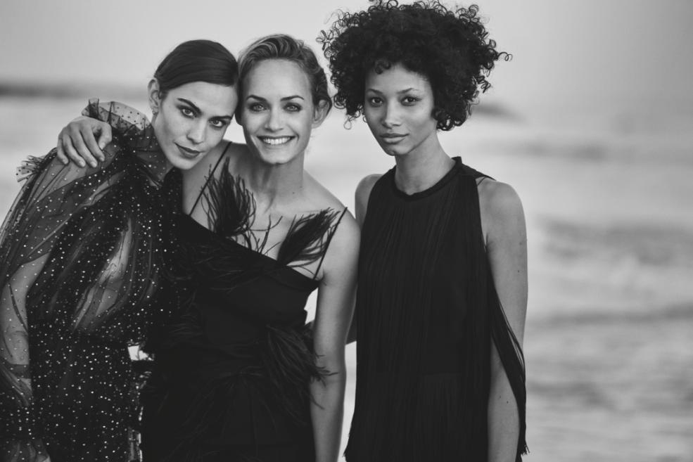 Alexa Chung, Amber Valletta and Lineisy Montero in Douglas ad campaign.
