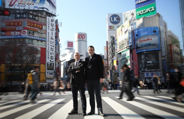 Gladd founders Alain Soulas and Olivier Chouvet in Shibuya, Tokyo.