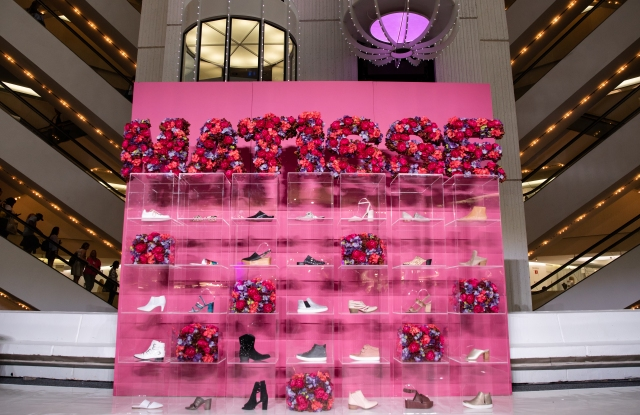 Shoe display sponsored by Matisse. Photo courtesy of Americas Mart.