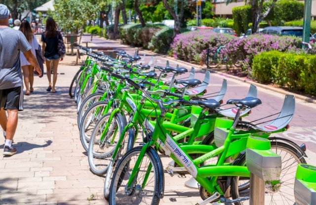 Rental bikes in Israel.