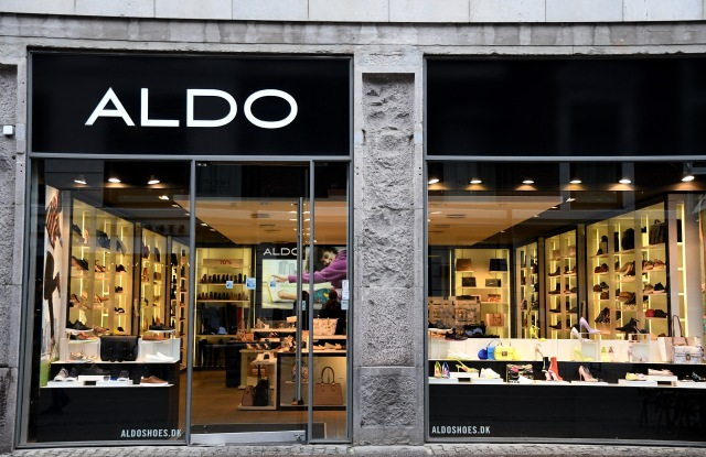 Exterior of an Aldo shoe storeAldo Store, Copenhagen, Denmark - 17 Feb 2018
